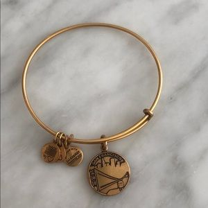 San Francisco Alex and ani bracelet in gold